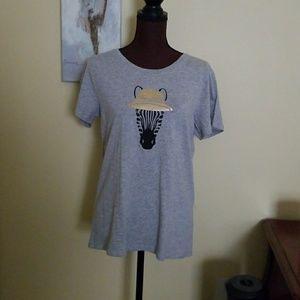 J Crew Zebra T Shirt